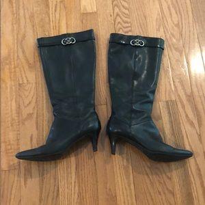 Bandolino Black Tall Boots Size 8.5 Womens